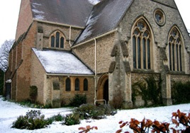 St Michaels in the snow